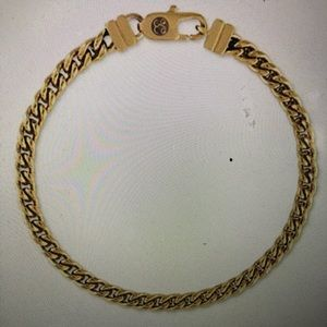 Esquire Men's Chain Bracelet Gold Tone